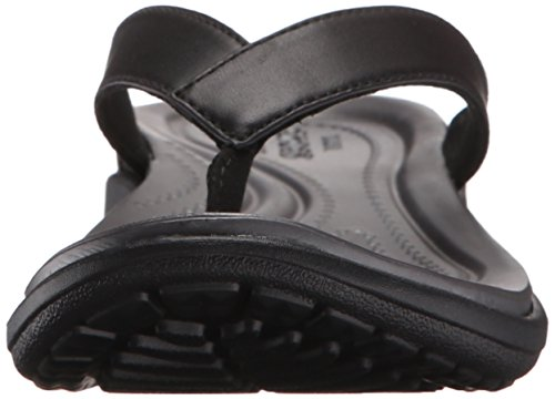 Crocs Caprivflip, Pantofole Donna Nero (Black/Graphite)