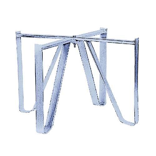 Standfuß für BOTTI Lebensmittel in Stahl verzinkt.