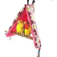 Nido de pájaro cálido para el invierno con perchas para loros, periquitos, cacatúas,