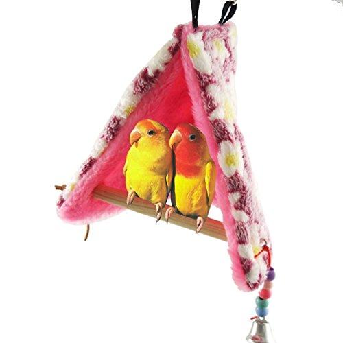 Nido de pájaro cálido para el invierno con perchas para loros, periquitos, cacatúas, ninfas, agapornis, pinzones