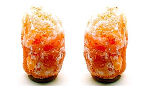 2x lampada di sale originale himalaya importate dal pakistan con cavo regolare CE presa europea