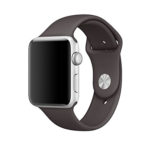 Kungix Smart Watch Correa, Silicona Suave Reemplazo de Banda Sport Band para Apple iWatch Serie 2/ Serie 1 38mm M/L, Cacao
