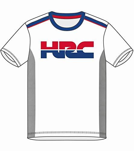 HONDA HRC Moto GP Team Large Logo Blanco Camiseta Oficial 2018