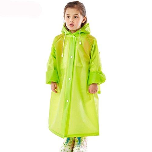 Raincoat Kinder-Regenmäntel, Regenmantel Langer Regenmantel für Studenten Regenmantel für Männer und Frauen Outdoor-Wander-Schulponcho (Farbe : D, größe : M)