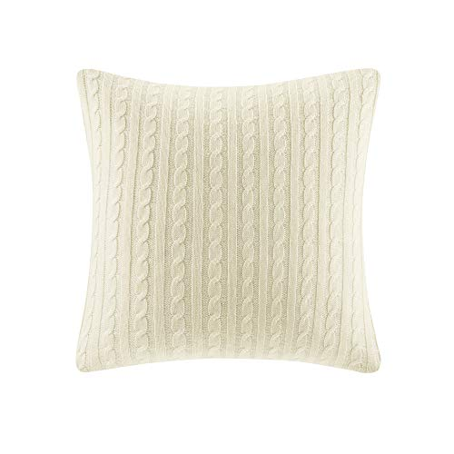 Woolrich Buckley Cable Knit Euro Sham Ivory, Woolrich Throw