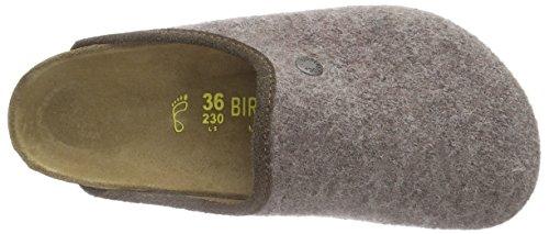Birkenstock Classic Amsterdam Wolle Unisex-Erwachsene Clogs Braun (Felt Loden Brown)