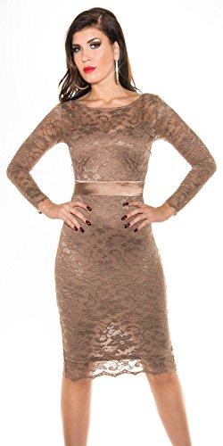 Fashion -  Vestito  - Astuccio - Donna Marrone