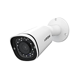 H.VIEW IP POE Security Camera 4.0mp with 2.8mm Lens Super HD surveillance cameras with Audio, IP67 Weatherproof, Smart IR, Motion Detection (HV-400G2)