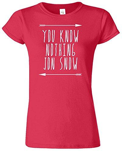 You Know Nothing Jon Snow Frauen Damen Mädchen passten T-Stück T-Shirt  Sweatshirt