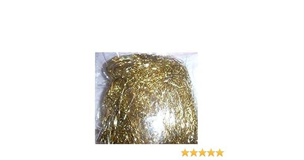 10 x 20 Gramm 10 T/üten Engelshaar//Lametta in Gold