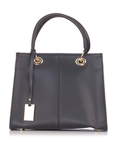 Laura Moretti - Handtasche aus Leder mit Anhänger (Satchel Buckle Handtasche)