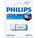 Philips Snow - Memoria USB 2.0 de 16 GB, color blanco y azul