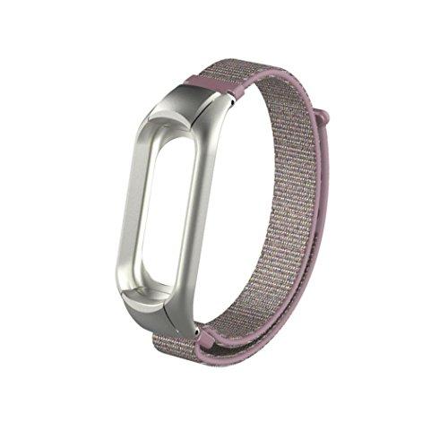 Preisvergleich Produktbild YUYOUG_watch strap yuyoug für Xiaomi Mi Band 3 Stylische Weiche Nylon Ersatz Band Sport Armband Double Buckle Handschlaufe Armband,  Rose