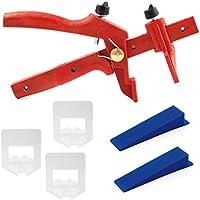 Lantelme 6042 Fliesen Nivelliersystem Basis-Set für Fuge 3 mm und 3-15 mm Stärke - Verlegehilfe - Verlegesystem - Fliesenverlegung - Fliesenverlegehilfe - Fliesenverlegesystem - red Edition