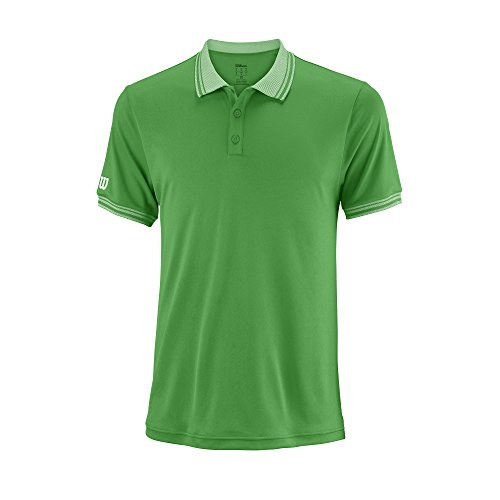 Wilson Herren Tennis Polo-Kurzarmshirt, M Team Polo, Polyester, Grün, Größe: XL, WRA765403