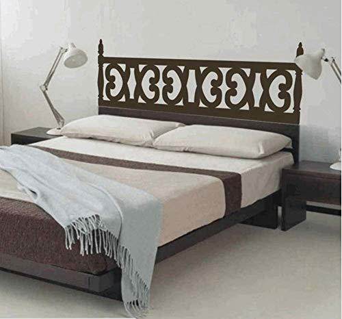 Yirenfeng Estilo rústico de madera tallada cabecero tradicional mural tatuajes de pared de vinilo camas decoración etiqueta de la pared dormitorio decoración del hogar