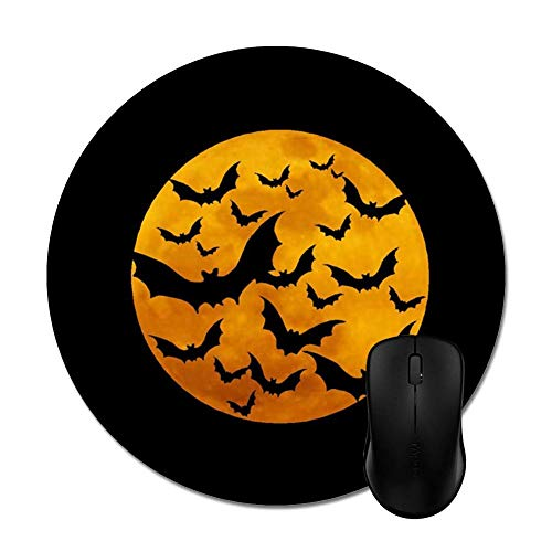 Bats Flying on The Moon Mouse Pad -Office Gaming Desktop Accessory ()