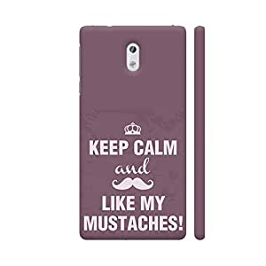 Colorpur Keep Calm And Like My Mustaches Artwork On Nokia 3 Cover (Designer Mobile Back Case) | Artist: Astha
