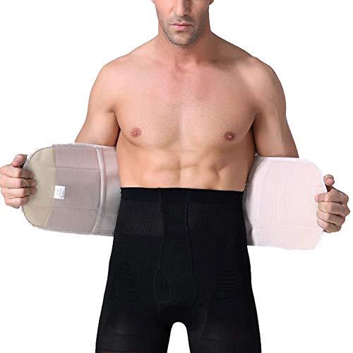 QitunC Gewichtheben Gürtel Lendenwirbelstütze Taillentrimmer Mit Atmungsaktive Mesh-Panels Für Männer Nackt XL