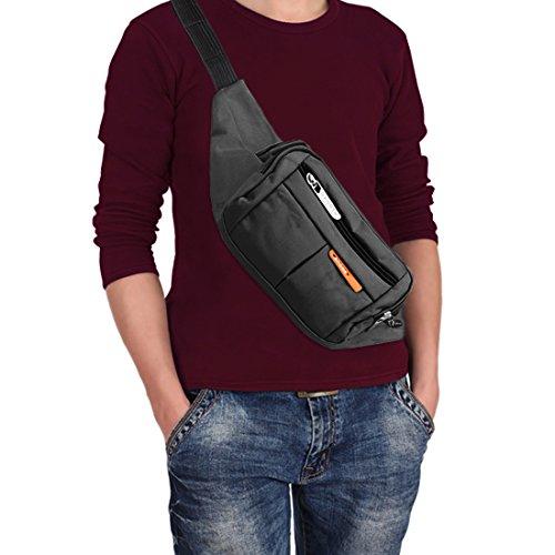 Aodoor Bauchtasche,Multi-funktion Sweatproof Nylon Gürteltasche,in mehreren Farben für Erwachsene,schwarz,Geeignet für Jogging, Radfahren, Wandern