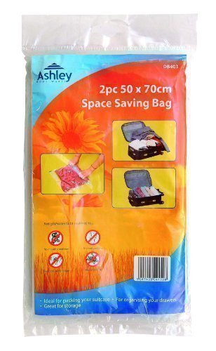Ashley - Platzspar Beutel 50cm x 70cm Ideal Für Das Packen Vor Koffern 2 Stück
