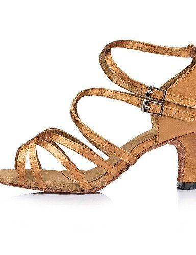 ShangYi Chaussures de danse ( Noir / Jaune / Vert ) - Personnalisables - Talon Personnalisé - Satin - Latine / Salsa / Samba Green