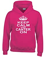 Edward Sinclair KEEP CALM AND CANTER ON' Funny Horse Riding Hoodie