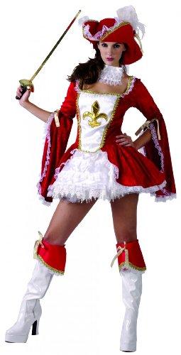 Generique Musketier-Kostüm für - Drei Musketiere Kostüm Frauen