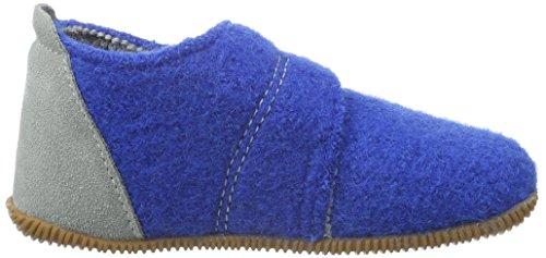 Giesswein Oberstaufen, Chaussons Montants Doublé Chaud Mixte Enfant Bleu (553)