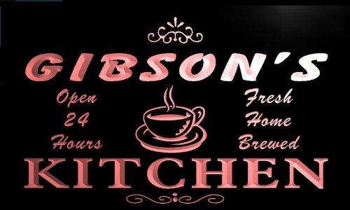 pc1116-r Gibson's Coffee Kitchen Neon Beer Sign Barlicht Neonlicht Lichtwerbung
