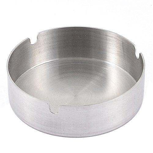Sourcingmap Büro Zylinder Form Zigarettenspitze Aschenbecher 10cm Durchmesser Silber Ton