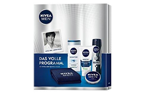 Nivea Men Geschenkset Sensitiv mit gratis Sporthandtuch, 1er Pack (1 x 1 Stück)