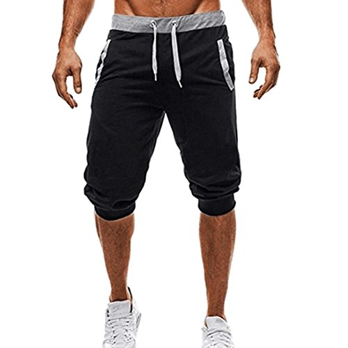 TUDUZ Männer Sport Fitness Jogging Elastische Stretchy Bodybuilding Bermuda Jogginghose Freizeithosen Training Kurze Hose