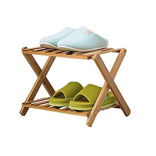 LFF--Schuhregal Schuhregal Bamboo 2 Tier Staubdicht Verstärkung Modern Minimalist Stehend...