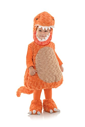 Trex Kinder Orange Kostüm - T-Rex- Dinosaurier- Orange- Kostüm Kinder Gr. XL