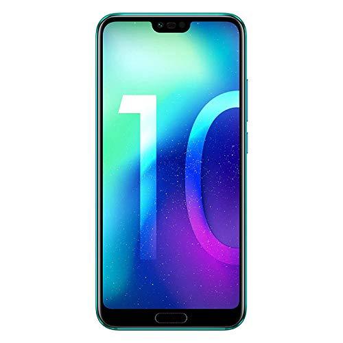 Honor 10 – Smartphone Android (Pantalla de 5,84' 19:9, 4G, cámara Trasera 16+24Mpx y Frontal 24Mpx, 4GB RAM, 64GB ROM, Lector de Huellas, desbloqueo Facial, Octa Core, 3400 mAh), Verde