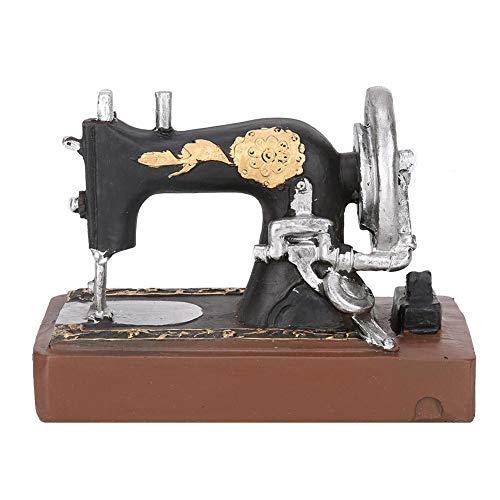 Vintage máquina de coser de resina adorno arte Craft oficina Home Bar Decor Mini tipo modelo