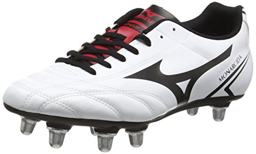 MizunoMonarcida Rugby Si - Rugby uomo, Bianco (White (White/Black/Chinese Red)), 44