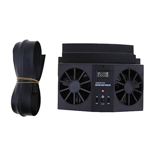 Backbayia Solarbetriebener Autokühler et Gummidichtungsstreifen aus TPU-Gummi - Nicht Powered Vent