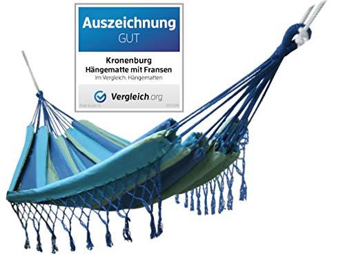 Kronenburg Mehrpersonen Hängematte mit Fransen 320 x 160 cm - Belastbarkeit bis 300 kg