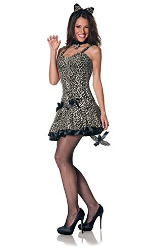 Horror-Shop Sexy Leoparden Kostüm L / 40 (Wildkatze Leopard Kostüm)
