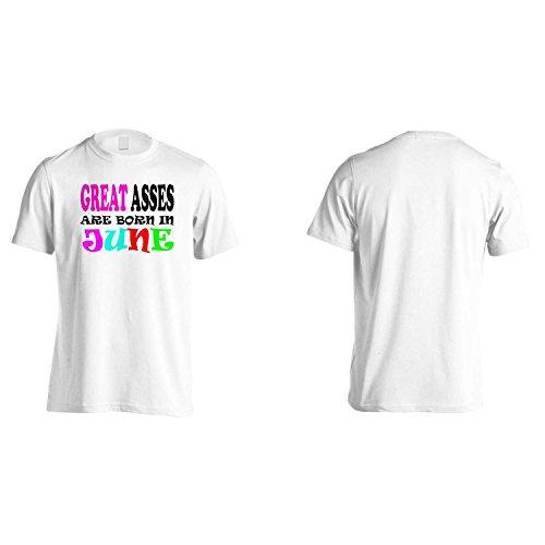 GRANDI ASINI NASCONO A GIUGNO DIVERTENTE Uomo T-shirt w51m White