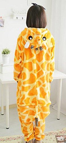 Y-BOA 1Pc Pyjama Combinaison Coton Femme Taille S Forme Girafe