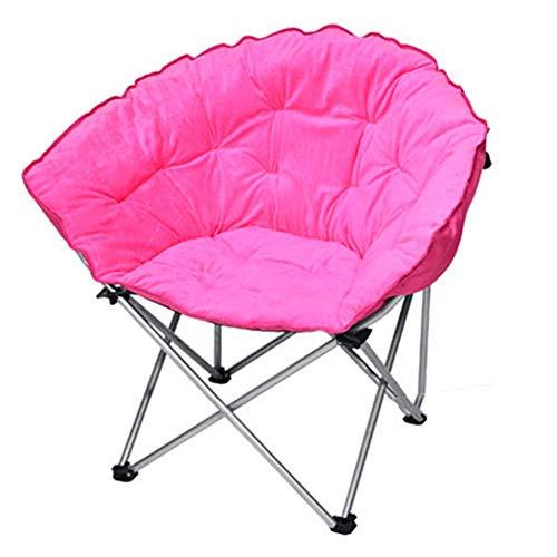 FeliciaWen Faltender kampierender Wannen-Stuhl-Hochleistungs aufgefüllter Fischen-Mond Seat Portable Outdoor (Farbe : Rosa, Größe : 65 *...