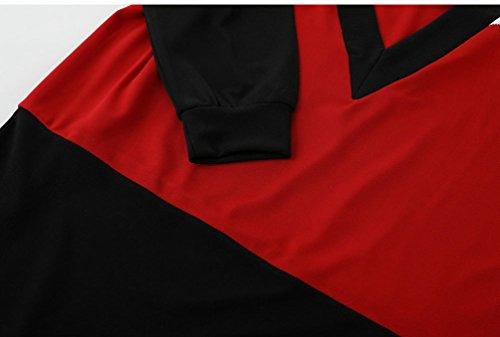 WanYang Donna Senza Schienale Pullover Abito Invernali Felpe T Shirt Maniche Lunghe Maglie Abito Multicolore