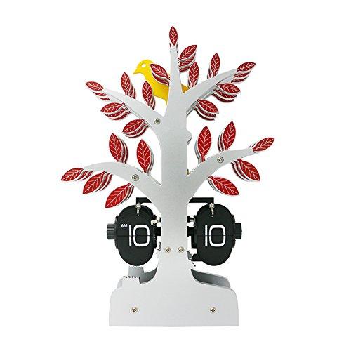 Albero di creative auto flip clock dell'uccello/orologio di arte di alberi/clocks/salotto creativo orologio/Orologi europei-A
