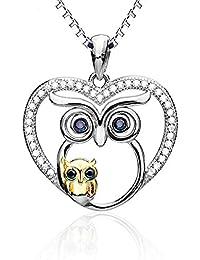 4b526a163498 MAX jewellery Collar con Colgante de búho para Mujer