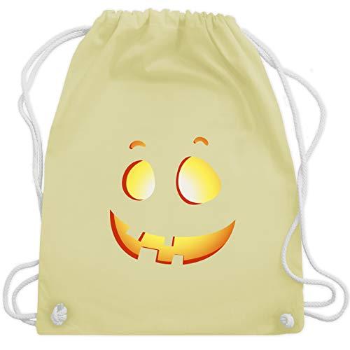 Halloween-Kuerbis Kinder - Unisize - Pastell Gelb - WM110 - Turnbeutel & Gym Bag ()