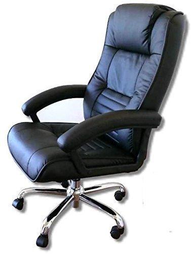 Leder Chefsessel Massagesessel'Comfort' Bürosessel mit Massage Sessel Farbe schwarz für Büro...