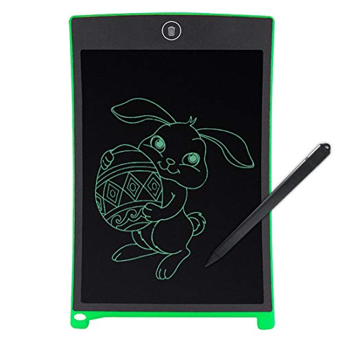 Schreibtafel LCD Writing Tablet 8.5 Zoll mit Schloss Bunte Elektronischer Notizblock Schreiben Tablette Digitaler Drawing Pad Grafiktablet Kinder Junge Mädchen,Green -